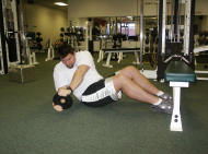 abdominal strength training: russian twists